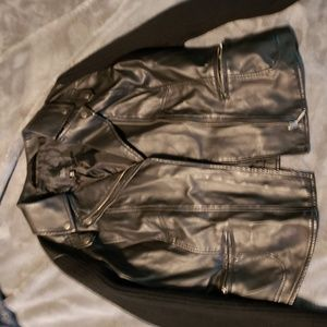 Leather/Material sleeve Jacket